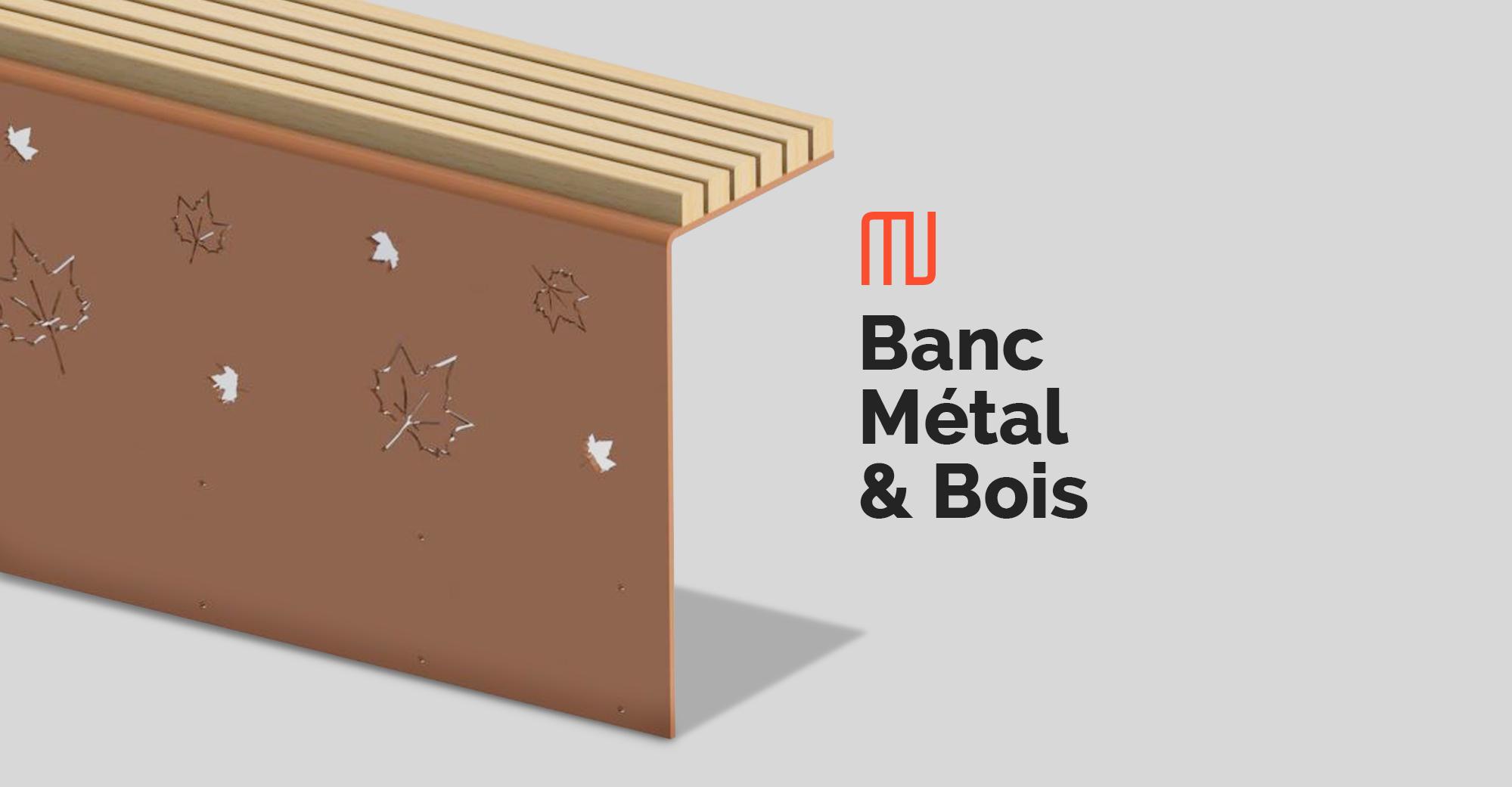 Banc Métal & Bois Mobilier Urbain