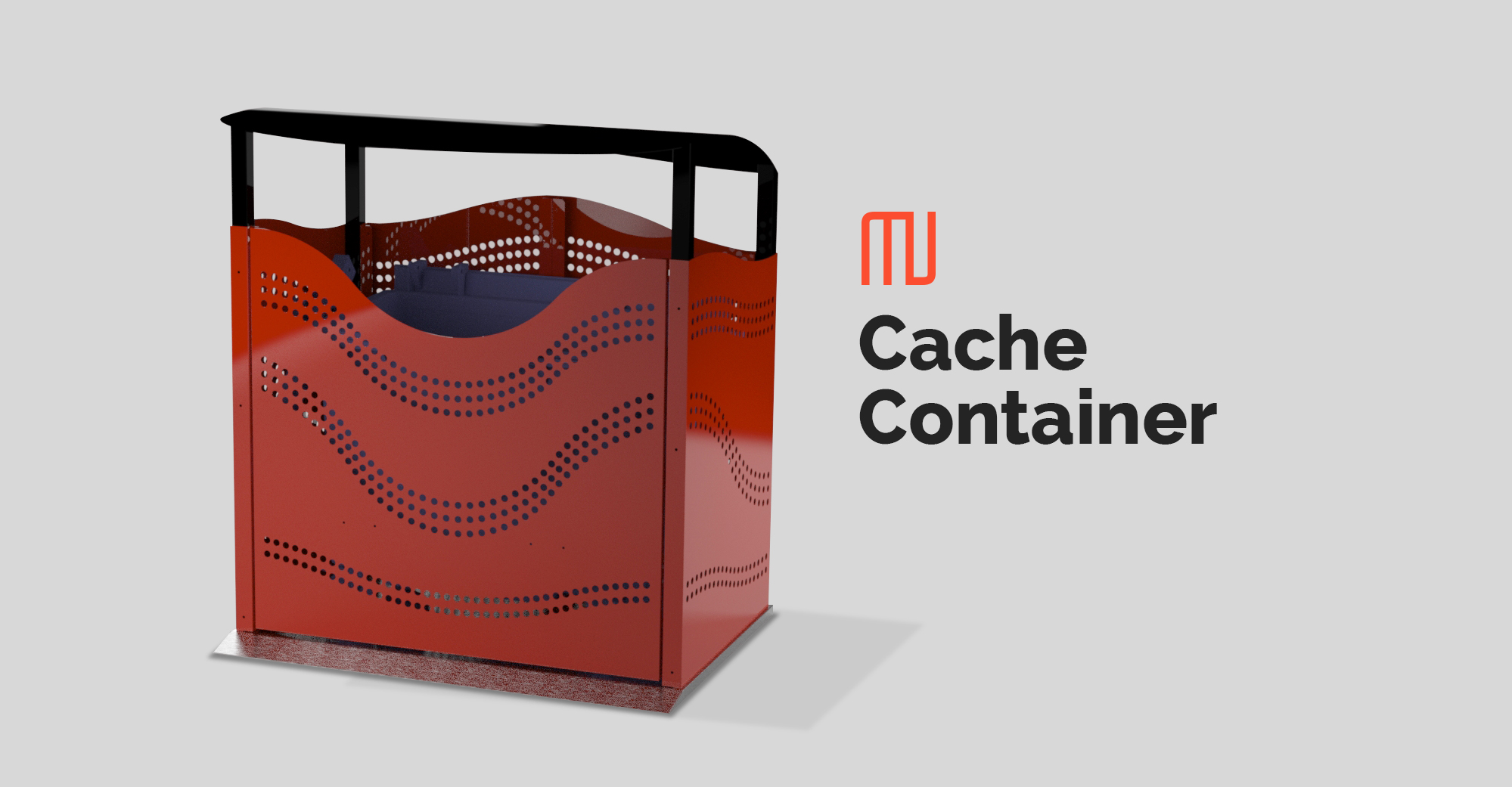 Cache Container Mobilier Urbain